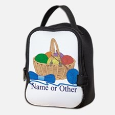 Personalized Knitting Neoprene Lunch Bag