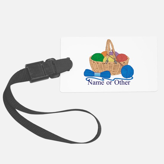 Personalized Knitting Luggage Tag