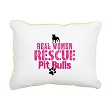 Real Women Rescue Pit Rectangular Canvas Pillow