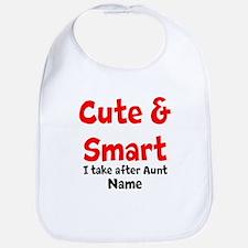 Cute & Smart Aunt Bib