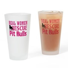 Real Women Rescue Pit Bulls Drinking Glass