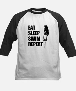 Eat Sleep Swim Repeat Baseball Jersey