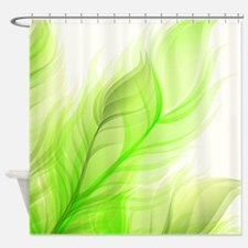 Beautiful Feather shades of green leaves Shower Cu