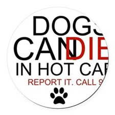 Report It Round Car Magnet