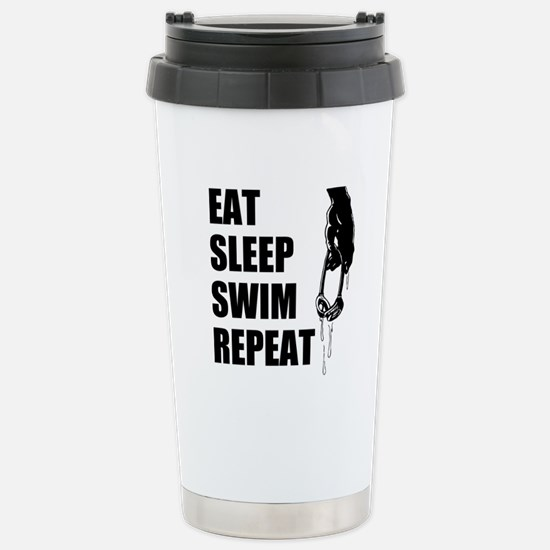Eat Sleep Swim Repeat Travel Mug