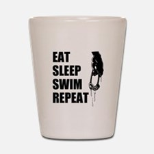 Eat Sleep Swim Repeat Shot Glass