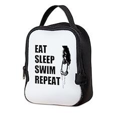 Eat Sleep Swim Repeat Neoprene Lunch Bag
