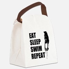 Eat Sleep Swim Repeat Canvas Lunch Bag