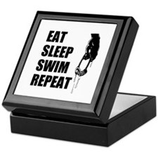 Eat Sleep Swim Repeat Keepsake Box