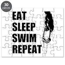 Eat Sleep Swim Repeat Puzzle
