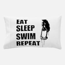 Eat Sleep Swim Repeat Pillow Case