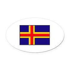 Flag of Aland Islands Oval Car Magnet