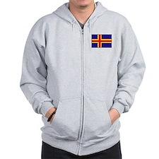 Flag of Aland Islands Zip Hoodie