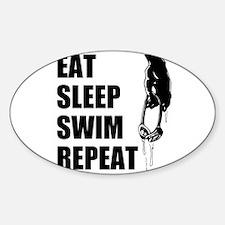 Eat Sleep Swim Repeat Decal