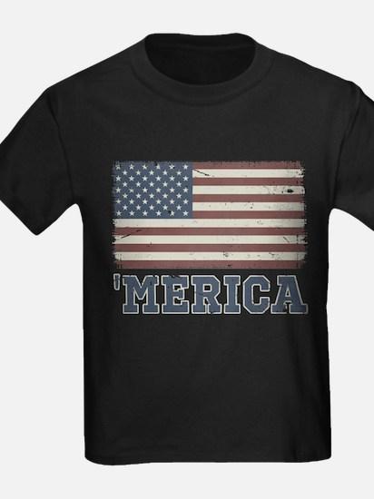 'Merica Flag Vintage T