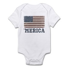 'Merica Flag Vintage Infant Bodysuit