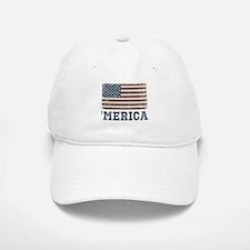 'Merica Flag Vintage Baseball Baseball Cap