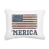 American flag Rectangle Canvas Pillows