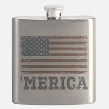 'Merica Flag Vintage Flask