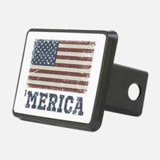 'Merica Flag Vintage Hitch Cover