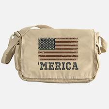 'Merica Flag Vintage Messenger Bag