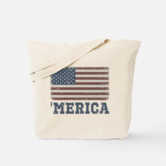 'Merica Flag Vintage Tote Bag