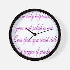 Helpless Wall Clock