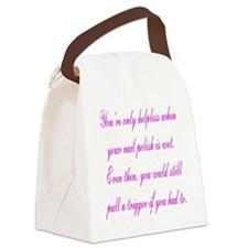 Helpless Canvas Lunch Bag