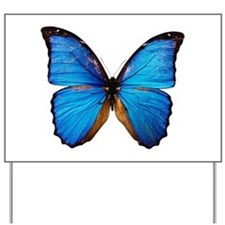 Animals Blue Butterfly Yard Sign