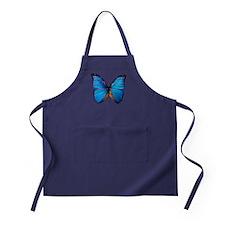 Animals Blue Butterfly Apron (dark)