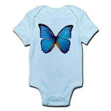 Animals Blue Butterfly Body Suit