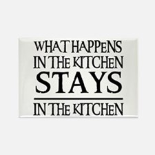 STAYS IN THE KITCHEN Rectangle Magnet