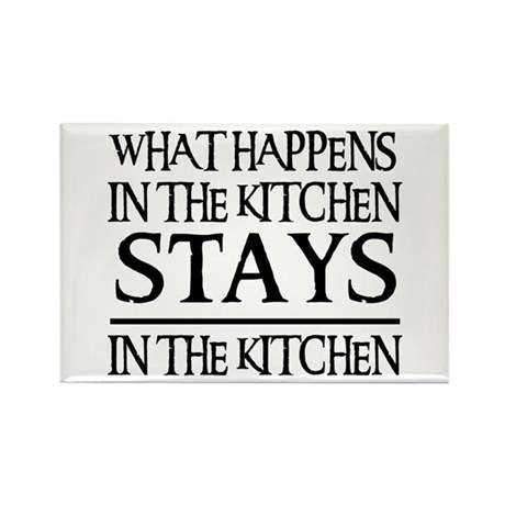 STAYS IN THE KITCHEN Rectangle Magnet (10 pack)