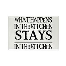 STAYS IN THE KITCHEN Rectangle Magnet (100 pack)