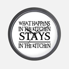 STAYS IN THE KITCHEN Wall Clock