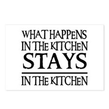 STAYS IN THE KITCHEN Postcards (Package of 8)