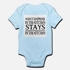 STAYS IN THE KITCHEN Infant Bodysuit