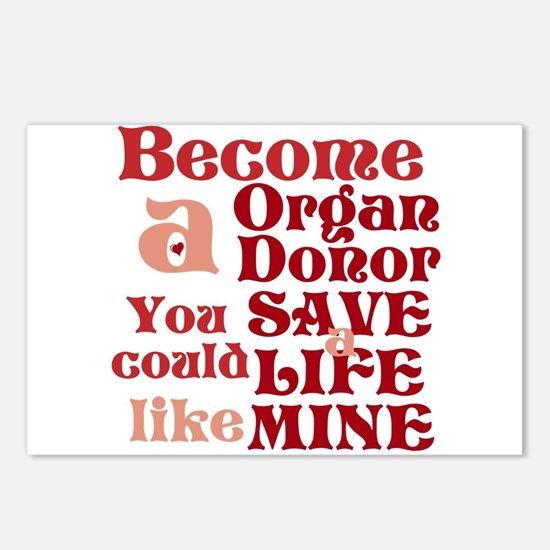 Become A Organ Donor Postcards (Package of 8)