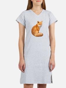 animals fox Women's Nightshirt