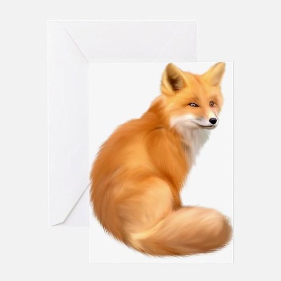 animals fox Greeting Cards