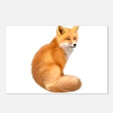 animals fox Postcards (Package of 8)