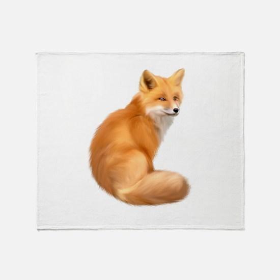 animals fox Throw Blanket