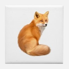 animals fox Tile Coaster