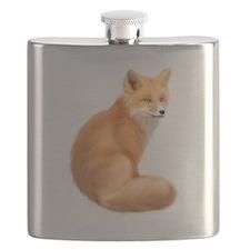 animals fox Flask