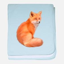 animals fox baby blanket