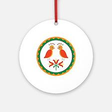 Double Distlefink Ornament (Round)