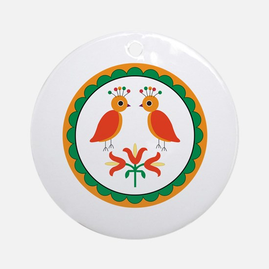 Double Distlefink Ornament (Round)