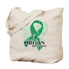Organ Donor Love Hope Bird Tote Bag