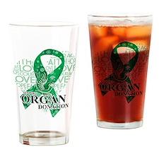 Organ Donor Love Hope Bird Drinking Glass