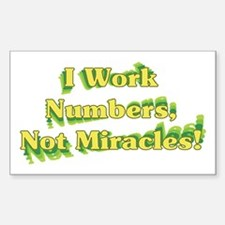Numbers, Not Miracles Rectangle Decal